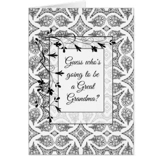 Gran tarjeta de la invitación de la abuela