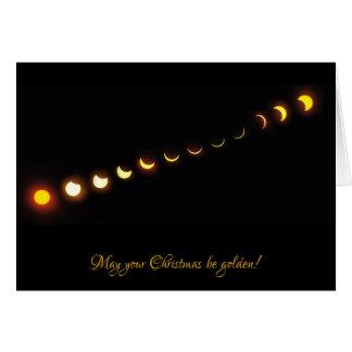 Gran tarjeta de Navidad americana del eclipse