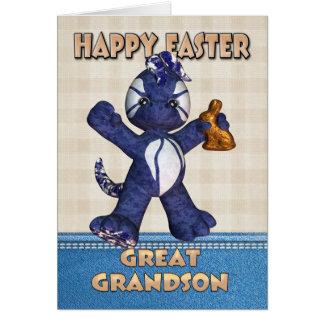 Gran - tarjeta de pascua del nieto - dragón