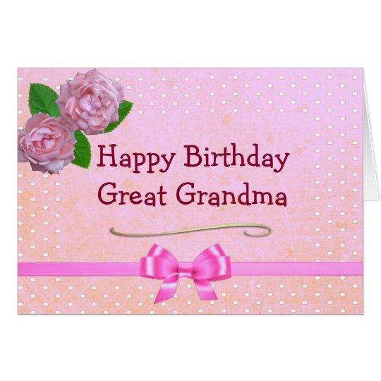 Gran tarjeta del feliz cumpleaños del rosa de la