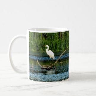 Gran taza blanca del Egret