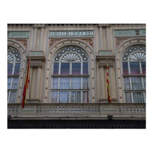 Gran Teatre del Liceu, Barcelona Tarjeta Postal