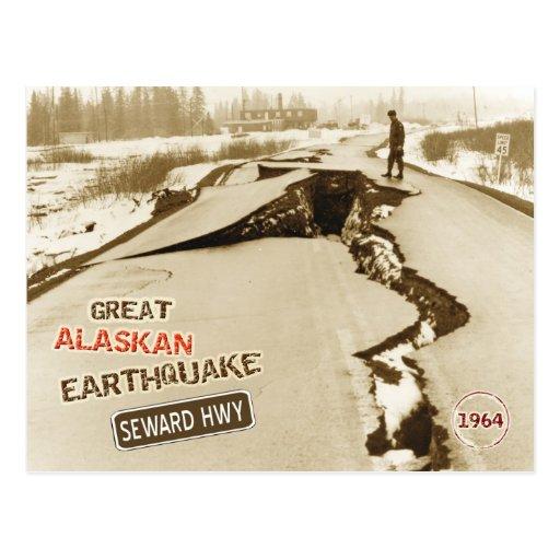 Gran terremoto de Alaska 1964 Tarjeta Postal