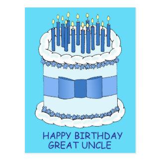 Gran tío feliz cumpleaños postal