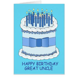 Gran tío feliz cumpleaños tarjeta de felicitación