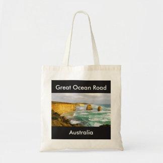 Gran tote de Australia del camino del océano Bolso De Tela