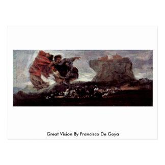 Gran Vision de Francisco De Goya Tarjetas Postales