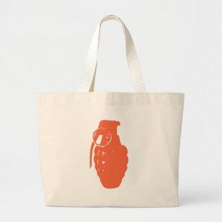 Granada anaranjada bolsa tela grande