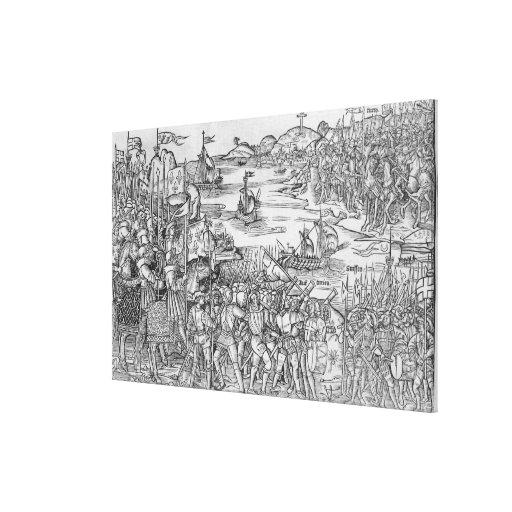 Grand Voyage de Hierusalem' Impresiones En Lienzo Estiradas