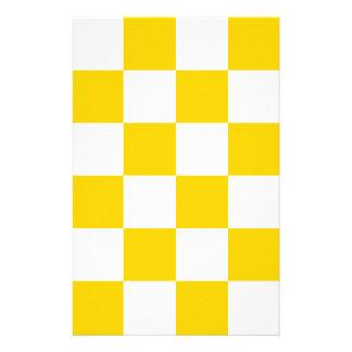 Grande a cuadros - amarillo amarillo claro y papelería de diseño
