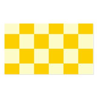 Grande a cuadros - amarillo amarillo claro y tarjetas de visita