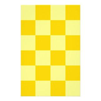Grande a cuadros - amarillo amarillo y oscuro papeleria de diseño