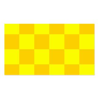 Grande a cuadros - amarillo amarillo y oscuro tarjetas de visita