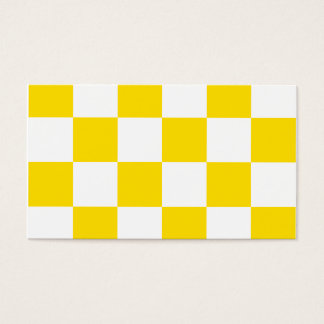 Grande a cuadros - amarillo blanco y de oro tarjeta de negocios