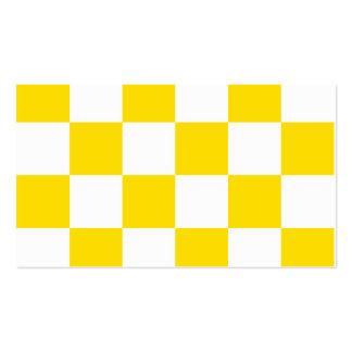 Grande a cuadros - amarillo blanco y de oro tarjetas de visita