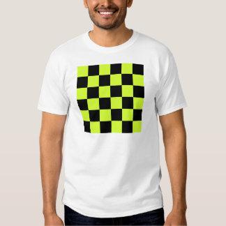 Grande a cuadros - amarillo negro y fluorescente camisas