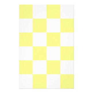 Grande a cuadros - amarillo y amarillo claro papeleria personalizada