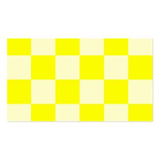 Grande a cuadros - amarillo y amarillo claro tarjetas de visita