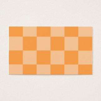 Grande a cuadros - anaranjado y anaranjado claro tarjeta de negocios