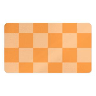 Grande a cuadros - anaranjado y anaranjado claro tarjetas de visita