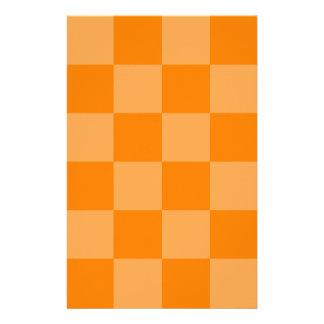 Grande a cuadros - anaranjado y anaranjado oscuro papelería