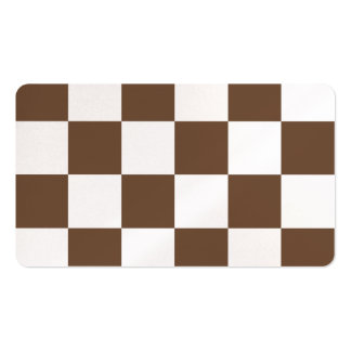 Grande a cuadros - blanco y café tarjetas de visita