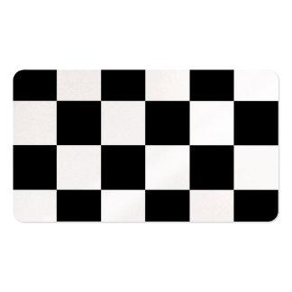 Grande a cuadros - blanco y negro tarjetas de visita