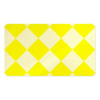 Grande a cuadros de Diag - amarillo y amarillo Tarjetas De Visita