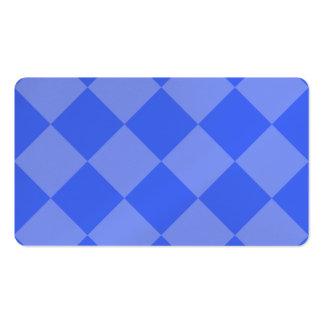 Grande a cuadros de Diag - azul y azul claro Tarjetas De Visita