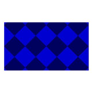Grande a cuadros de Diag - azul y azul marino Tarjetas De Visita