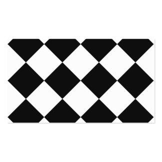 Grande a cuadros de Diag - blanco y gris oscuro Tarjetas De Visita