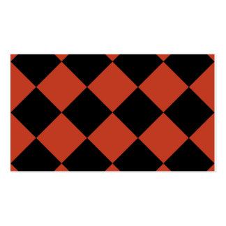 Grande a cuadros de Diag - rojo en colores pastel Tarjetas De Visita