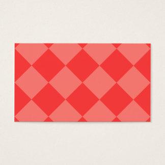 Grande a cuadros de Diag - rojo y rojo claro Tarjeta De Negocios