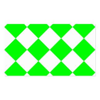 Grande a cuadros de Diag - verde blanco y Tarjetas De Visita