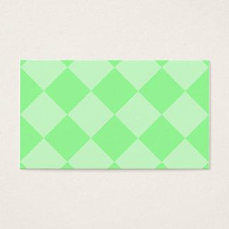 Grande a cuadros de Diag - verde y verde claro Tarjeta De Negocios