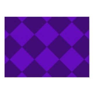 Grande a cuadros de Diag - violeta violeta y Invitación 12,7 X 17,8 Cm