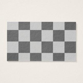 Grande a cuadros - gris claro y gris oscuro tarjeta de negocios