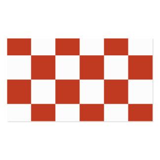 Grande a cuadros - rojo en colores pastel blanco y tarjetas de visita
