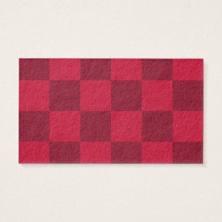 Grande a cuadros - rojo y rojo oscuro tarjeta de negocios