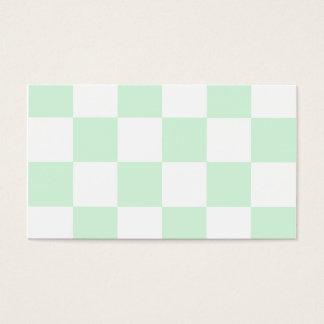Grande a cuadros - verde blanco y en colores tarjeta de negocios