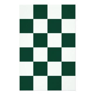Grande a cuadros - verde claro y verde oscuro papeleria