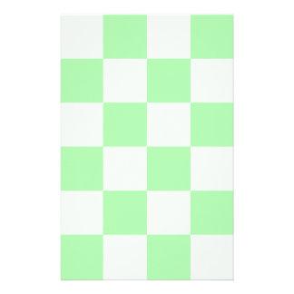 Grande a cuadros - verde y verde claro papelería personalizada