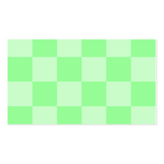 Grande a cuadros - verde y verde claro tarjetas de visita