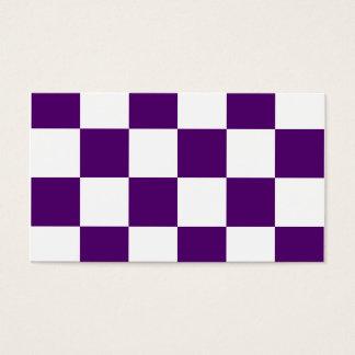 Grande a cuadros - violeta blanca y oscura tarjeta de negocios