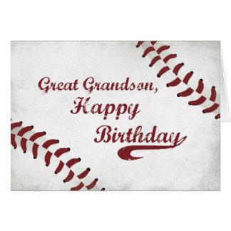 Grande - béisbol grande del Grunge del cumpleaños Tarjeta De Felicitación