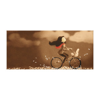 Grande brisa del otoño del arte de la bicicleta de impresión de lienzo