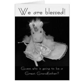 Grande - el nuevo bebé de abuelo nos bendicen tarjeta de felicitación