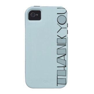 Grande gracias casamata azul Tough™ del iPhone 4 Vibe iPhone 4 Carcasa