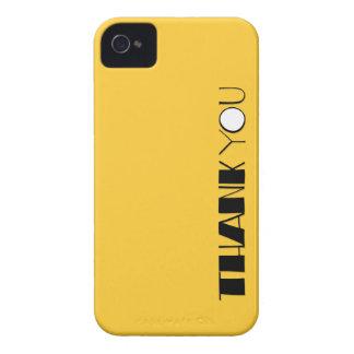 Grande gracias casamata intrépida negra de Blackbe Case-Mate iPhone 4 Protectores