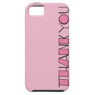 Grande gracias casamata rosada Tough™ del iPhone 5 iPhone 5 Case-Mate Cárcasa